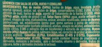 Sandwich thon - Ingredientes