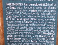 Sandwich thon - Información nutricional - es