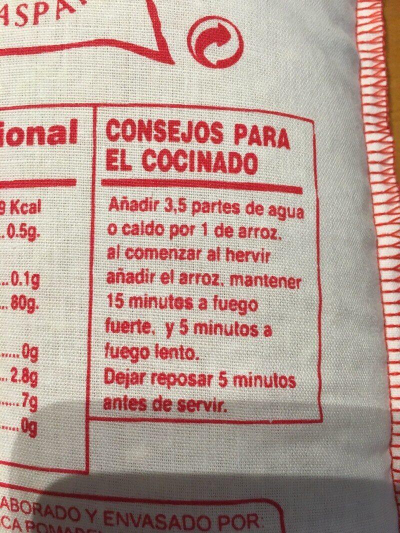 Arroz D.O. Calasparra saco 1 kg - Ingrédients