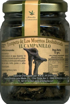 """Setas trompeta de los muertos deshidratadas """"El Campanillo"""" - Producto"""