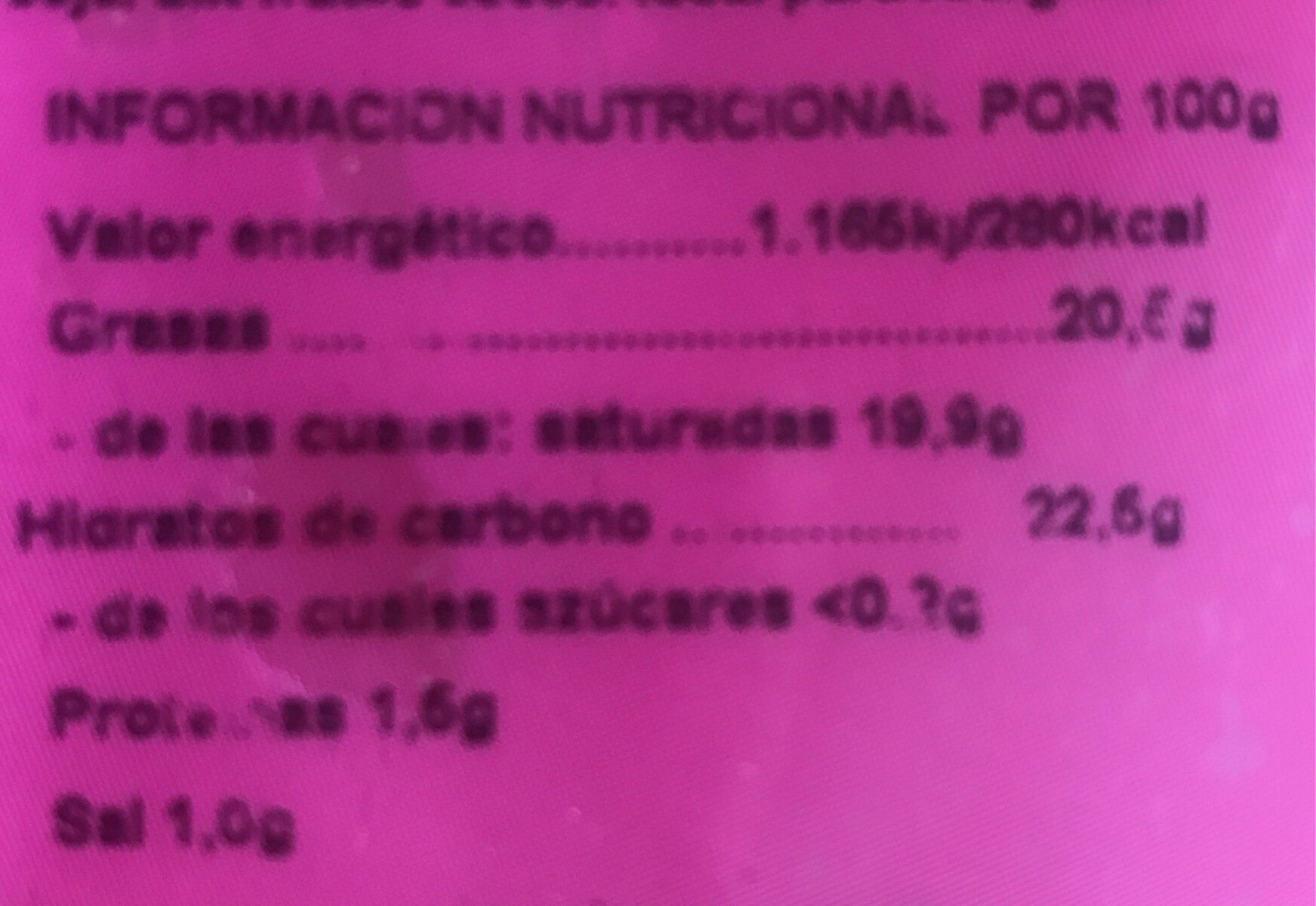 Quesnatur Rallado para gratinar - Nutrition facts