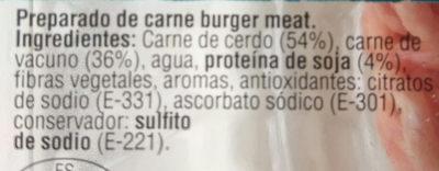 Mixta cerdo+vacuno - Ingredients - es