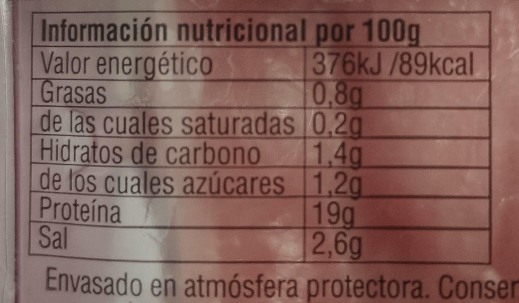 Extrafinos de psvo - Información nutricional
