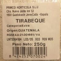 Tirabeques - Ingrédients