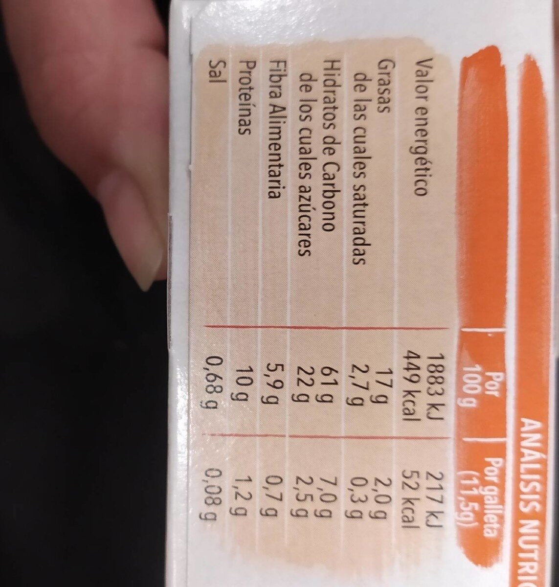Leche Chocolate - Nutrition facts - en
