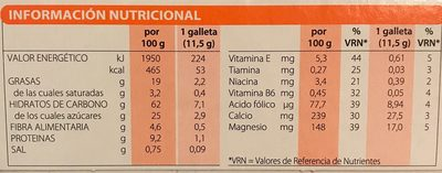 Gerblé Galletas De Leche Chocolate Y Yoghourt - Nutrition facts
