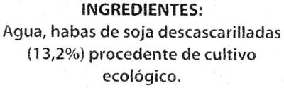 Bebida de soja ecológica - Ingredients