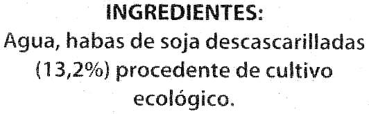 Bebida de soja ecológica - Ingredients - es