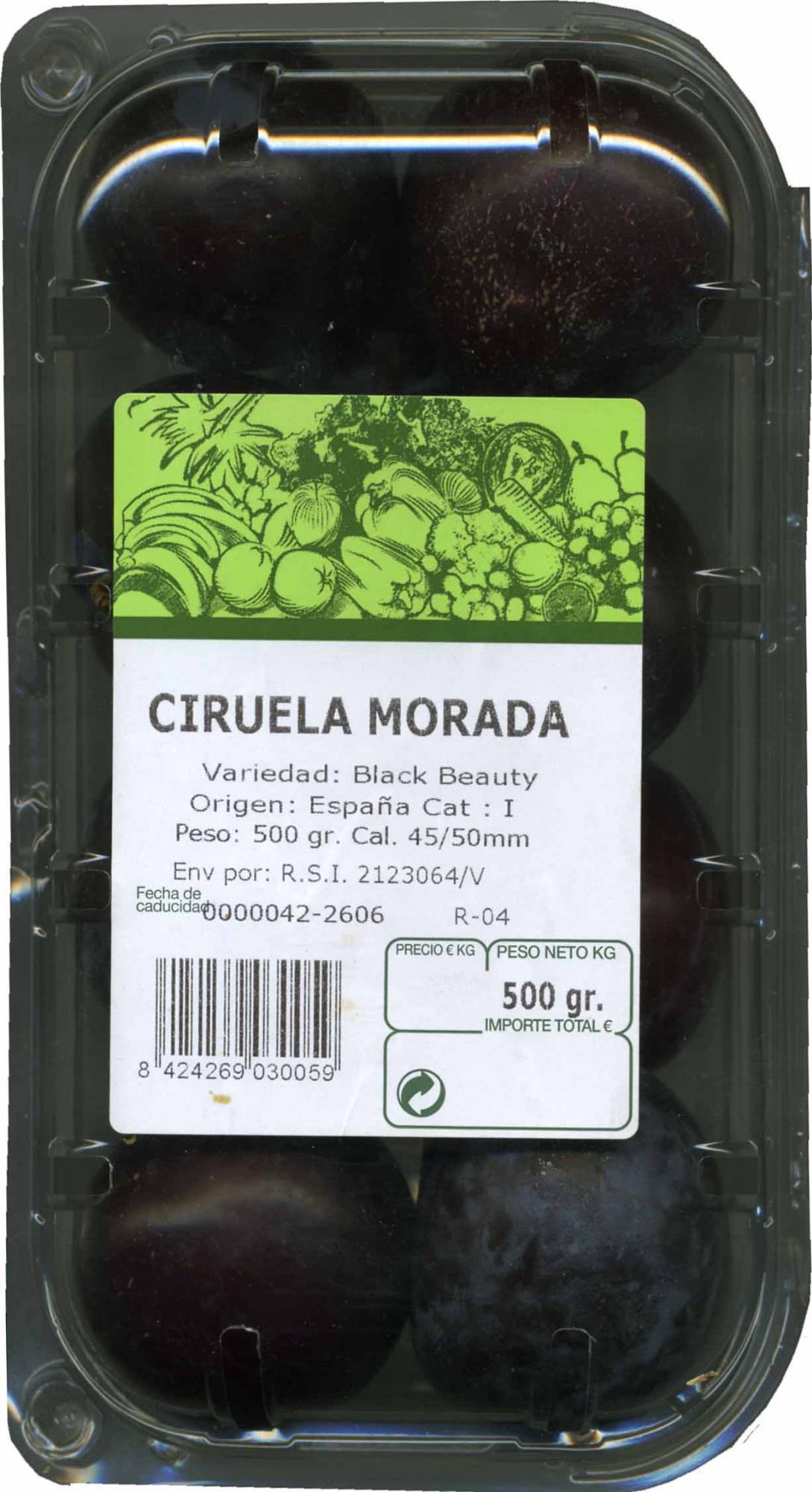 Ciruelas moradas - Producto