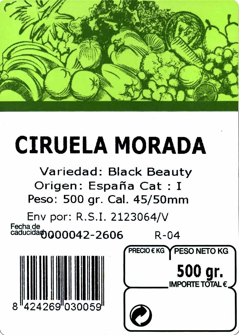 Ciruelas moradas - Ingredientes