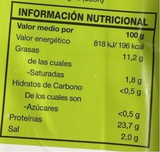 Salmón Ahumado Noruego - Valori nutrizionali - es