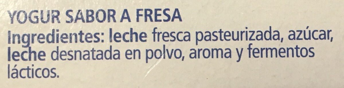 Iogurt La Fageda Sabor Maduixa - Ingredients