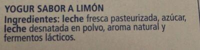 Iogurt La Fageda Sabor Llimona - Ingrediënten