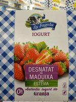 Iogurt gust de maduixa desnatat amb estevia - Produit - fr