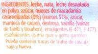 Gelat de vainilla amb nous de macadamia - Ingredientes - es