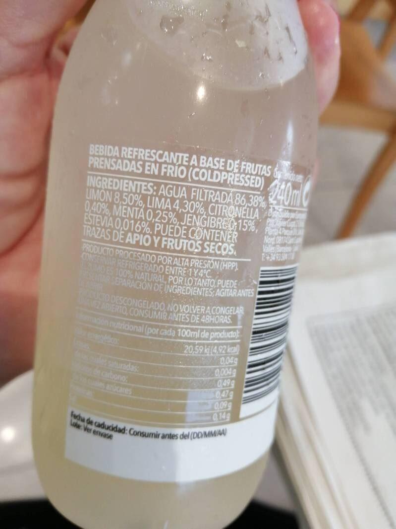 Lemon - Ingrédients - es