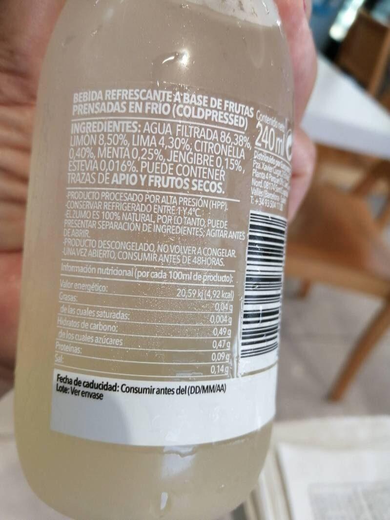 Lemon - Informations nutritionnelles - es