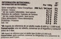 Tomate frito 6 oz. (packx3) - Informations nutritionnelles - es