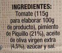 Asadillo 340 gr. - Ingredients - es