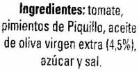 Asadillo - Ingrédients - es