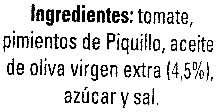 Asadillo - Ingrediënten - es