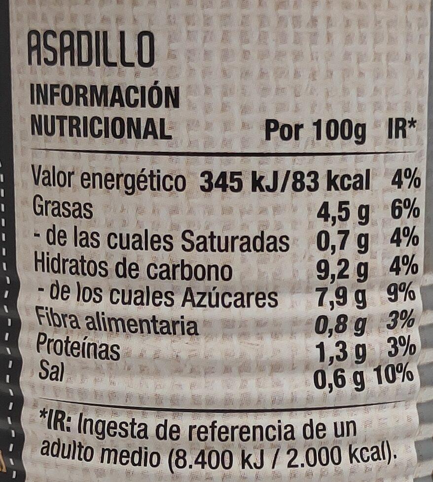 Asadillo 340 gr. - Nutrition facts - es