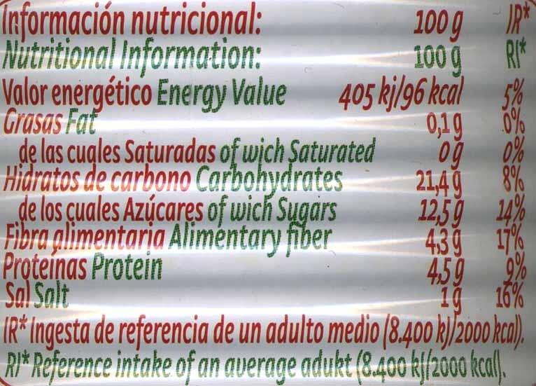 Tomate concentrado 170 gr. - Nutrition facts - es
