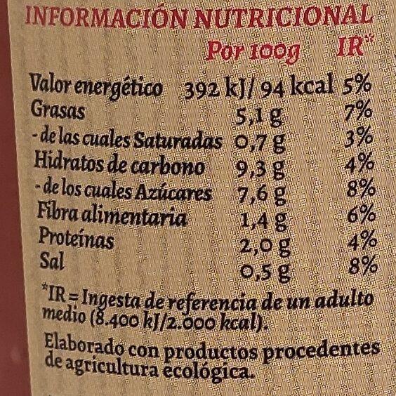 Tomate Frito Ecológico - Voedingswaarden - es