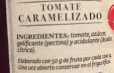 Tomate caramelizado - Ingredientes - fr