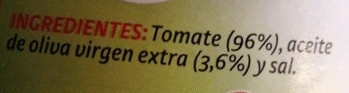 Tomate Pan y listo - Ingredients