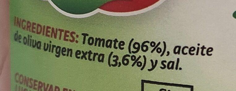 Tomate pan y listo - Ingredients - es