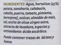 Crema de 7 hortalizas - Ingredientes
