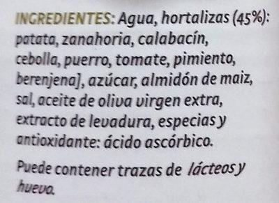 Crema de 7 hortalizas - Ingredientes - es