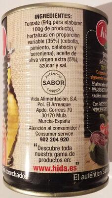 Pisto casero - Ingredients - es