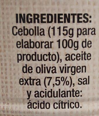 Cebolla frita 6 oz.( packx2) - Ingredients - es