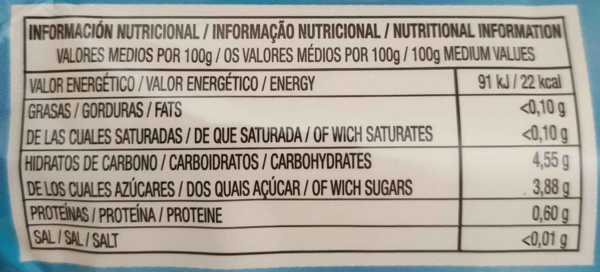 CHAPI FLAS - Informations nutritionnelles - es