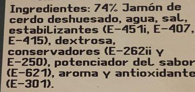 Jambon blanx extra - Ingredientes