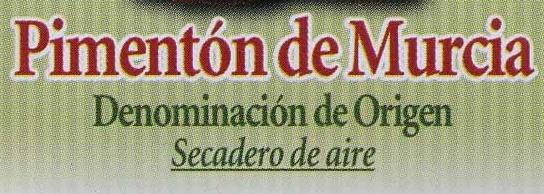 Pimentón dulce Origen Murcia - Ingredientes