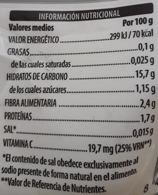 Patatas - Informació nutricional
