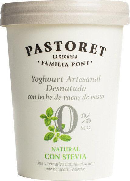 Yogur artesanal natural desnatado m.g.endulzado - Product - fr