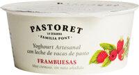 Yogur artesanal cremoso con frambruesas sin gluten - Producto - es