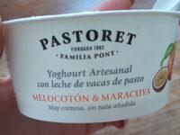 Yoghourt artesanal melocotón & maracuyá - Product - es