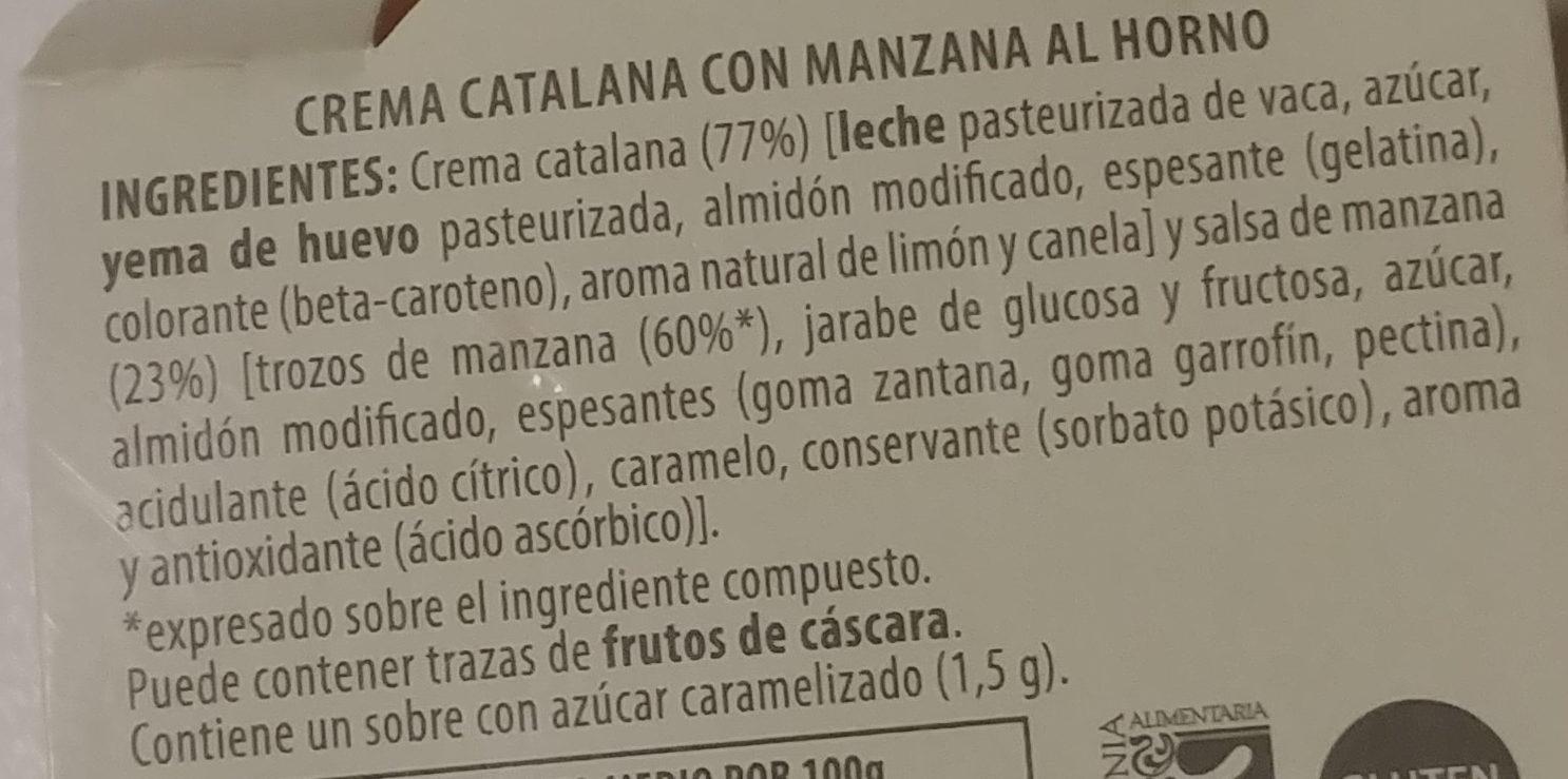 Crema Catalana al estilo casero con Manzana al Horno - Ingredients