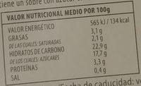 Crema Catalana al estilo casero con Manzana al Horno - Informació nutricional