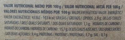 Yaourt biologique myrtilles - Información nutricional - es