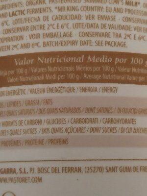 Yogur tradicional desnatado - Ingredients - es