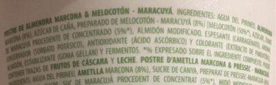 Vegetal de almendra melocotón y maracuyá - Ingredientes - es