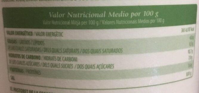 Vegetal de almendra melocotón y maracuyá - Información nutricional - es