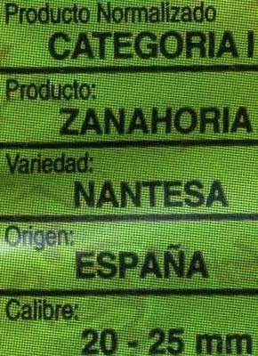 Zanahorias - Ingredientes - es