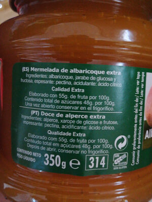 mermelada de albari9 - Ingredients